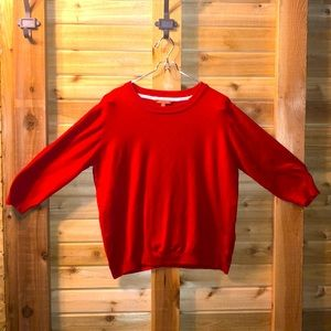 ModCloth Perfect Red Sweater